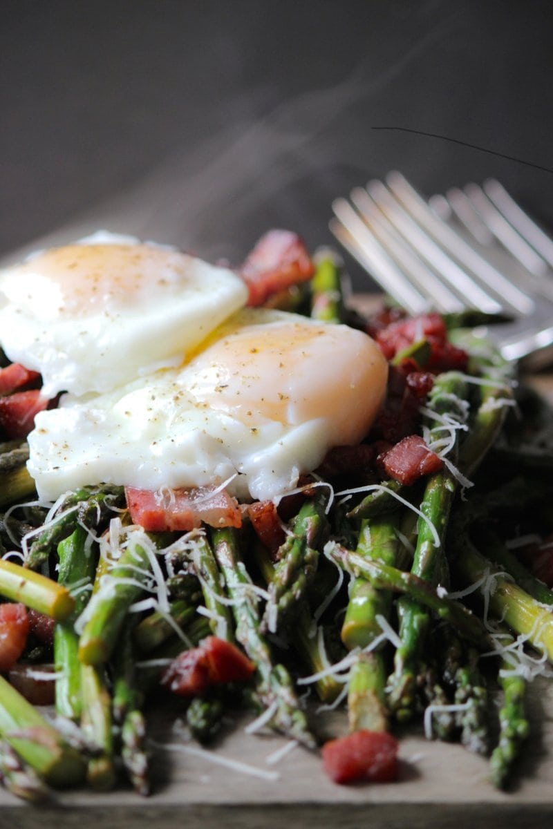 Beautiful Pan Asparagus & Perfect Poached Eggs