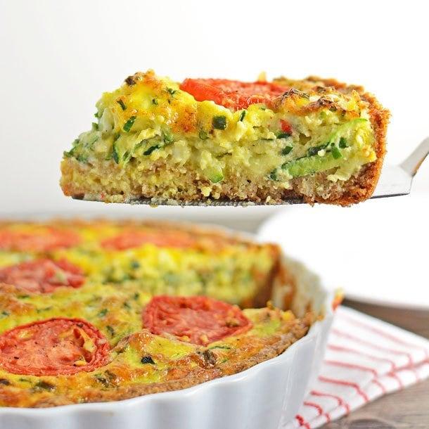 Zucchini & Chive Quiche