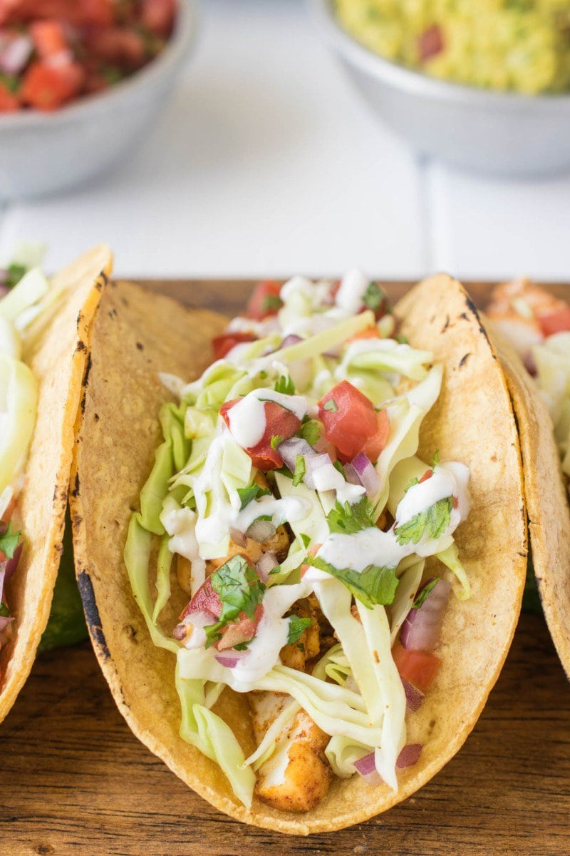 Baja Style Fish Tacos | Culinary Ginger