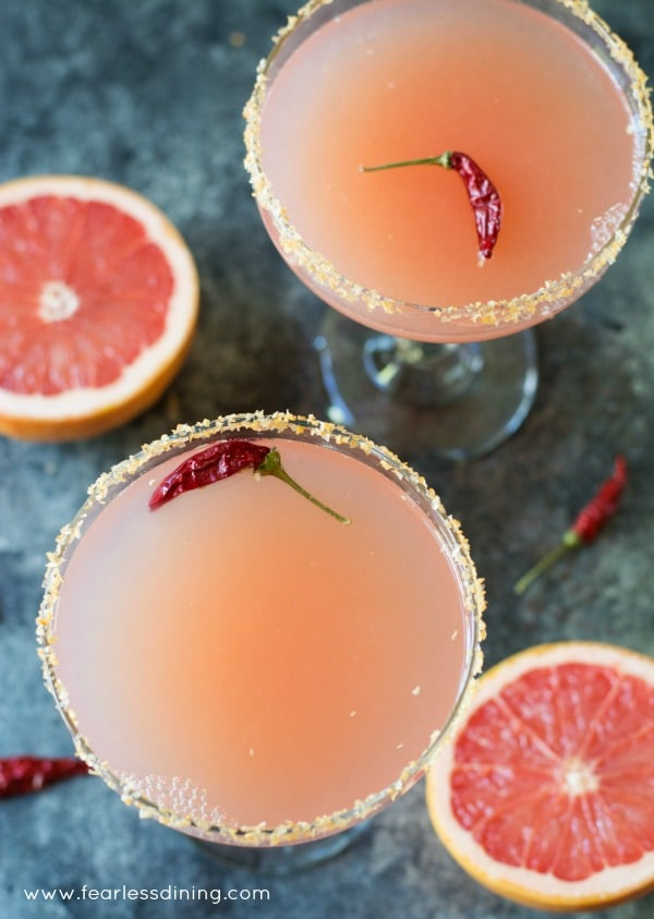 Pink Grapefruit Margaritas   Fearless Dining