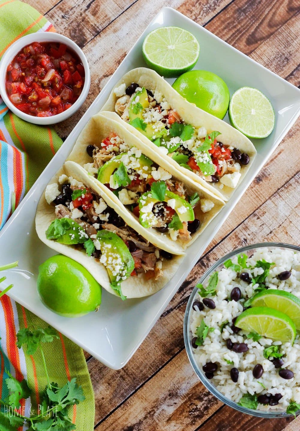 Pulled Pork Tacos aka Pork Carnitas | Home & Plate