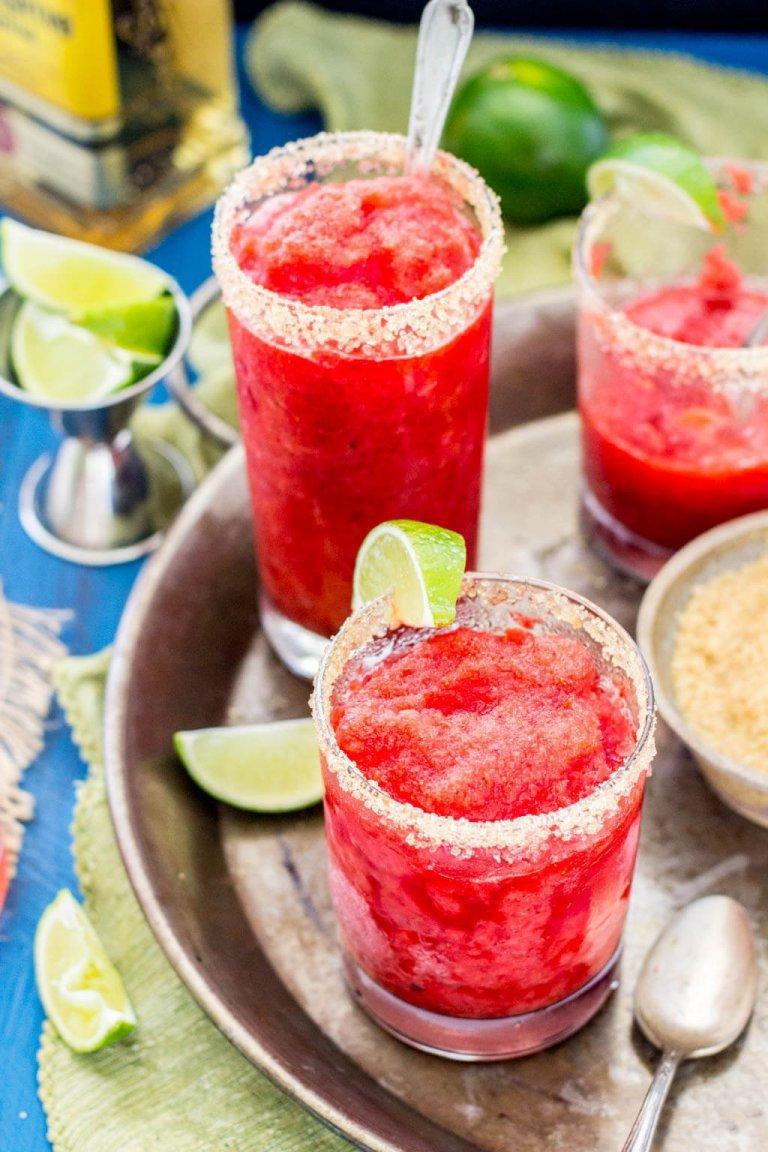 Strawberry Margarita Granita | Sugar Spun Run