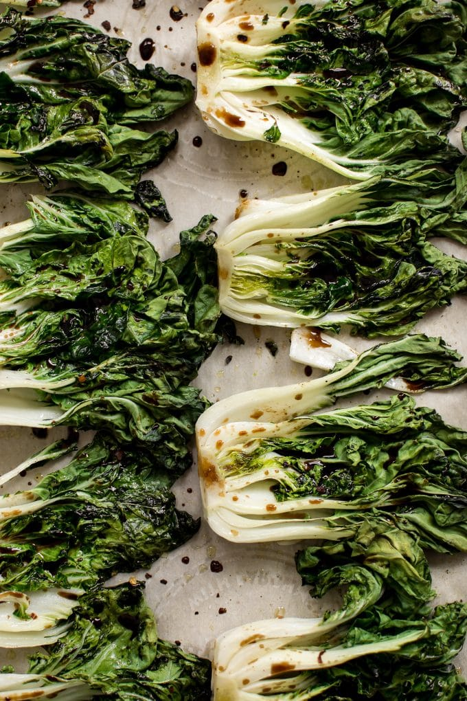 Easy Roasted Baby Bok Choy